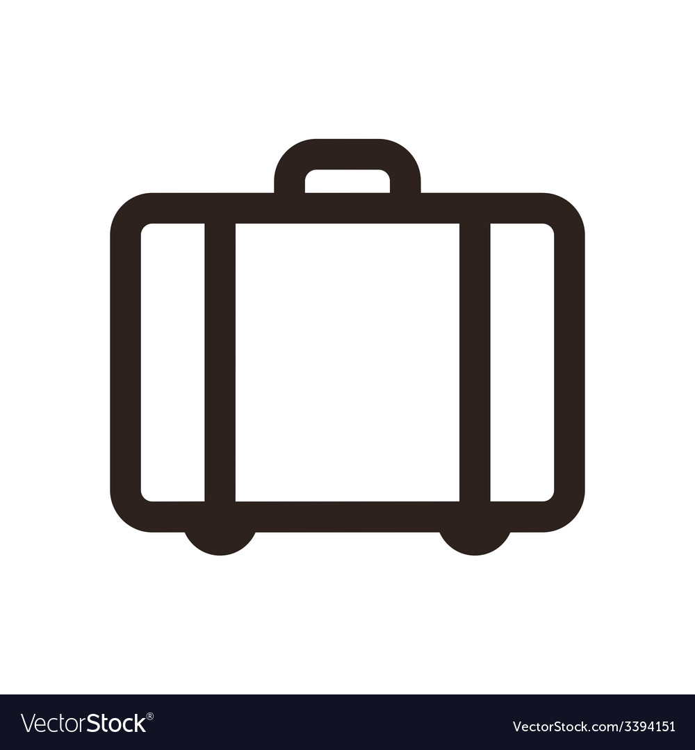 Suitcase  travel icon vector