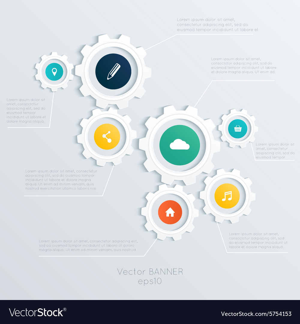 Cogwheel template cogwheel connection teamwork vector
