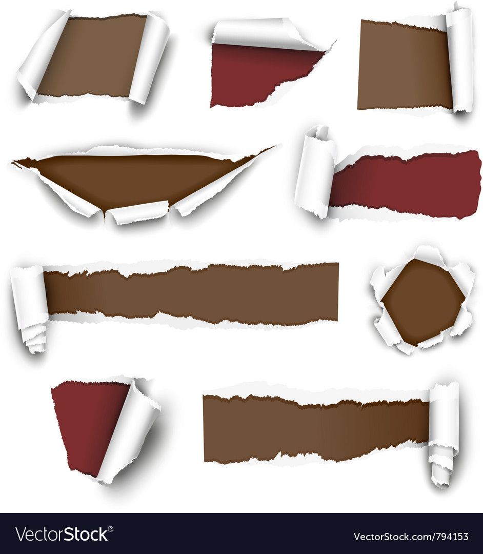Torn papers vector