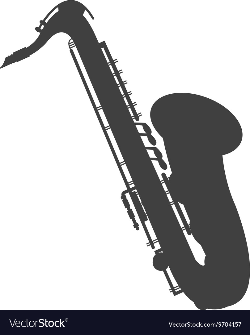 Detailed saxophone icon vector