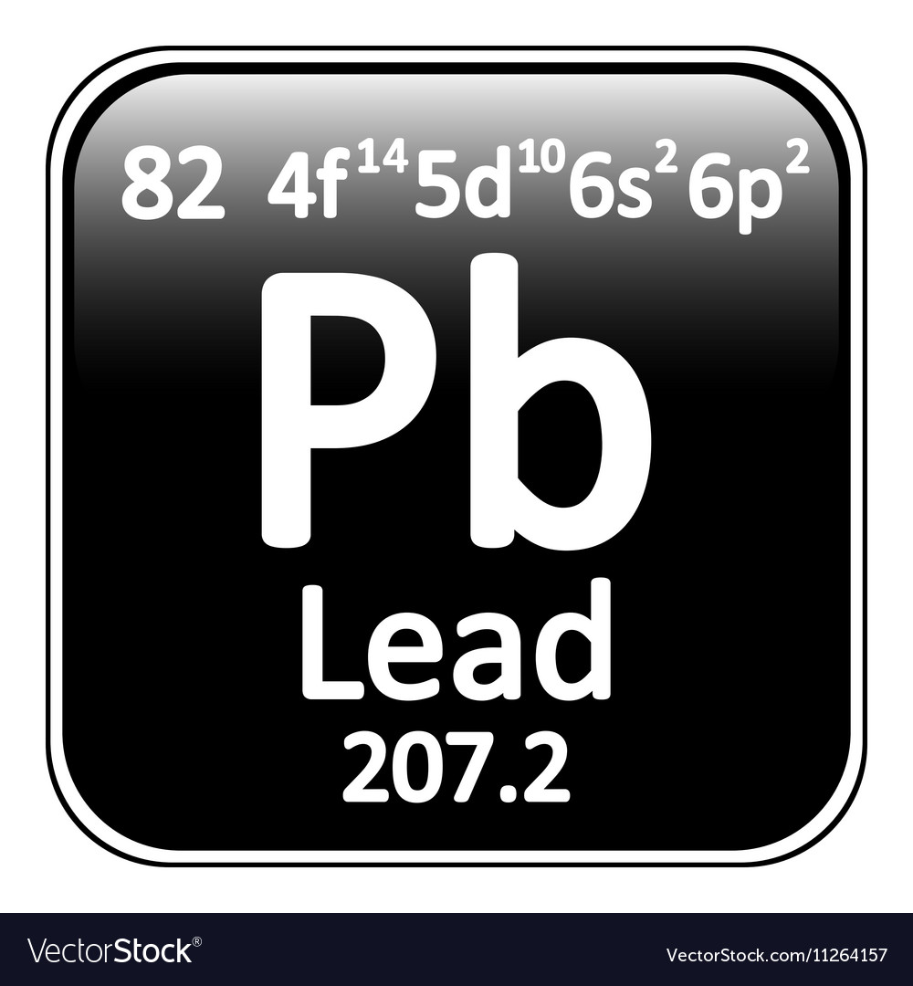 Periodic table element lead icon vector