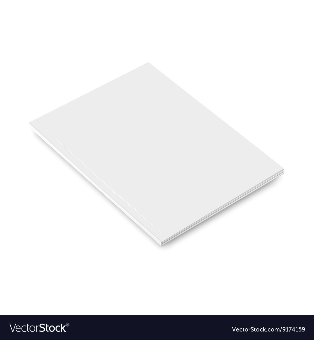 Blank closed magazine vector