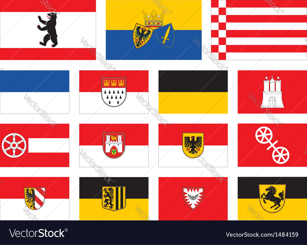City flags of germany vector