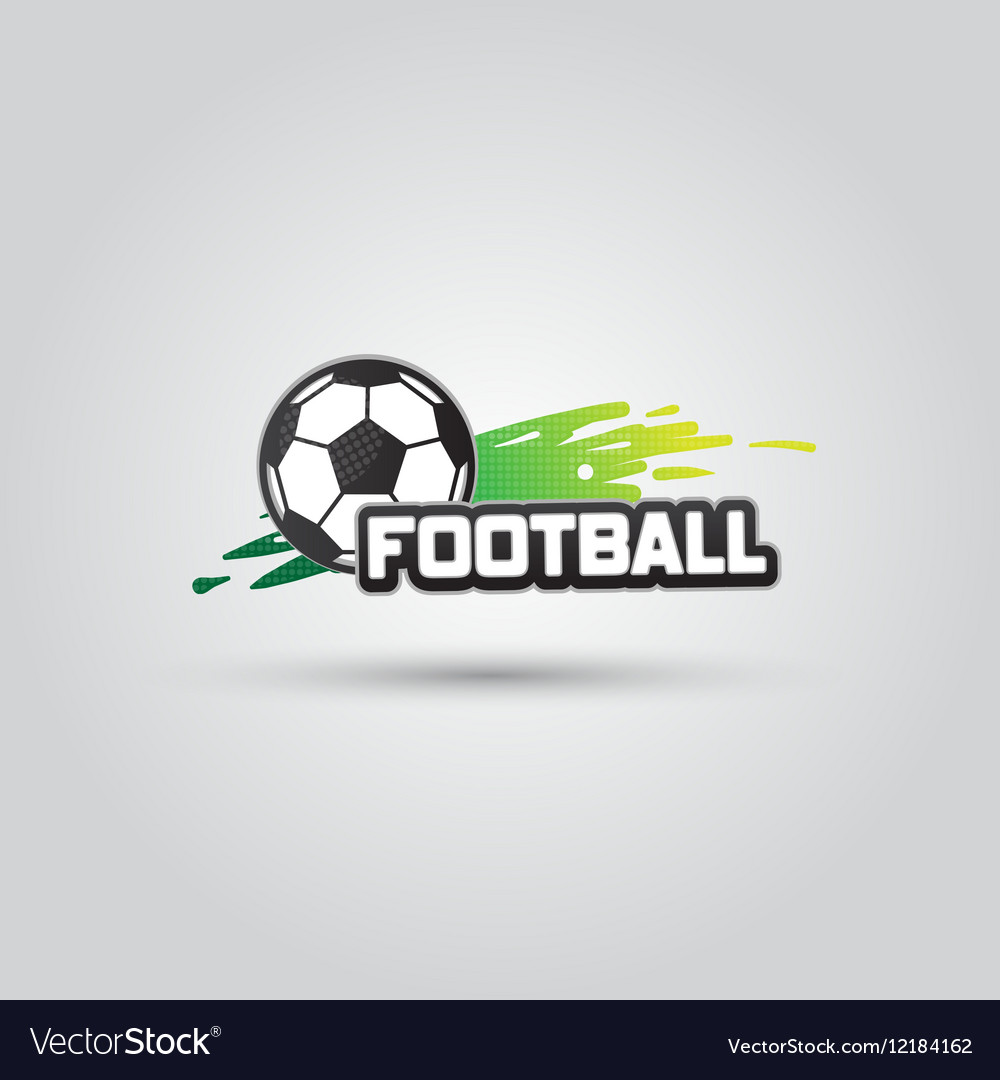 Ball symbol football logo badge sport emblem vector