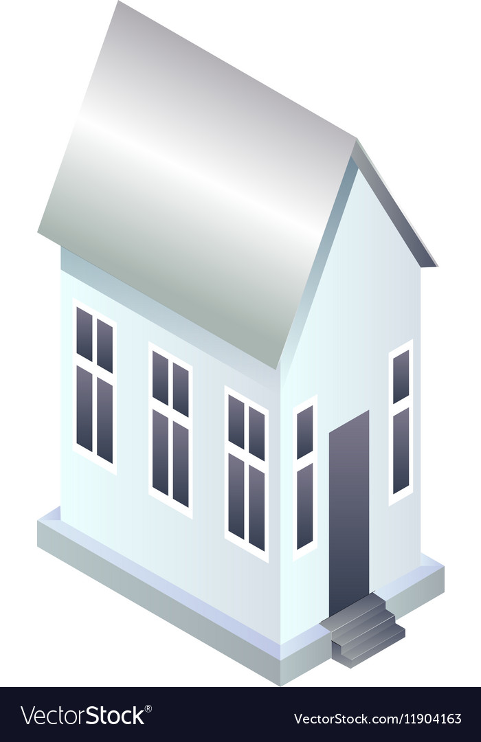 Perspective view of house blank vector