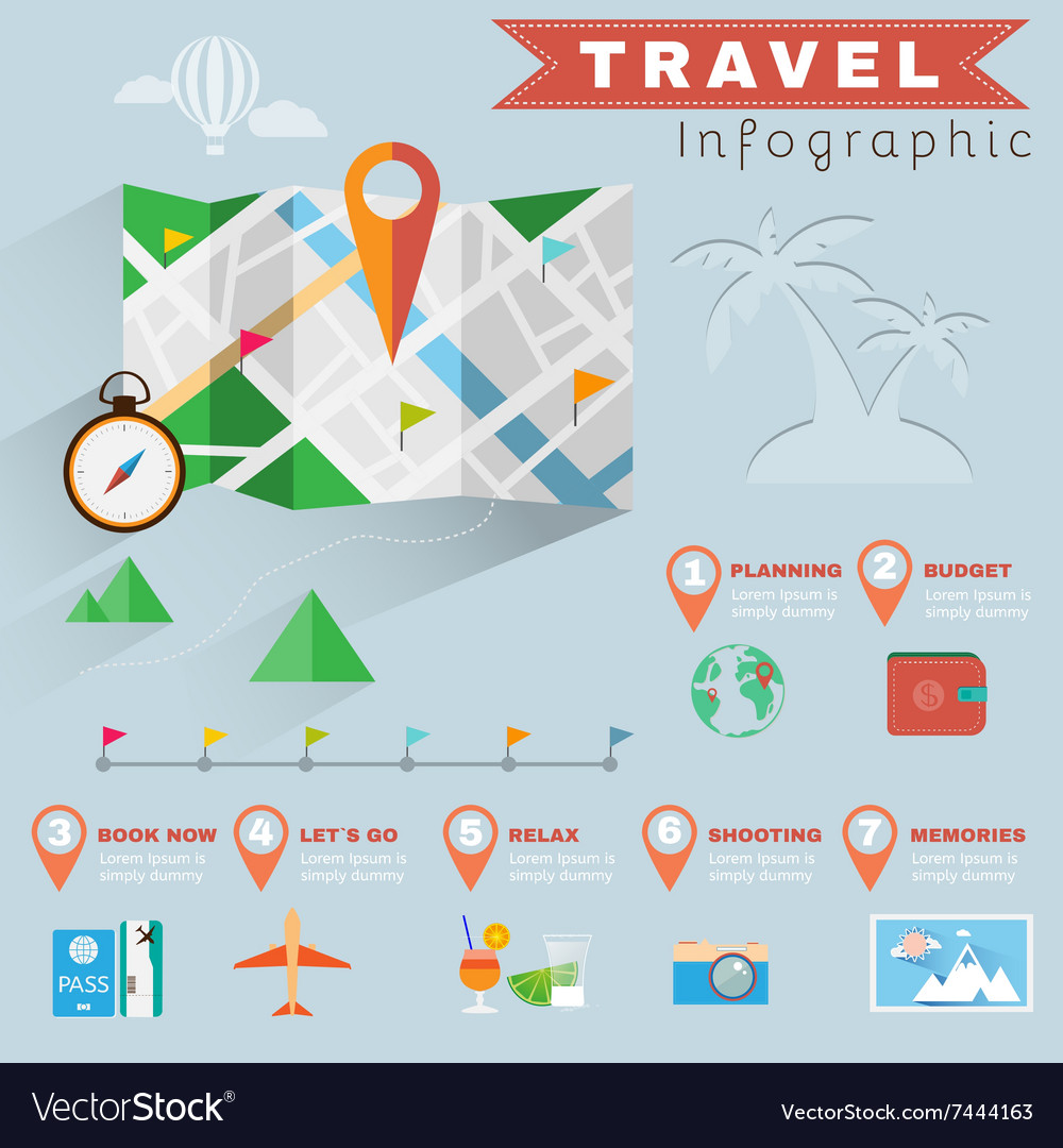 Travel planning infographics vector