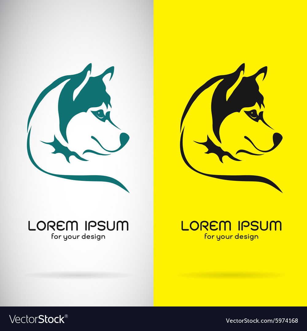 Image of a dog siberian husky design vector