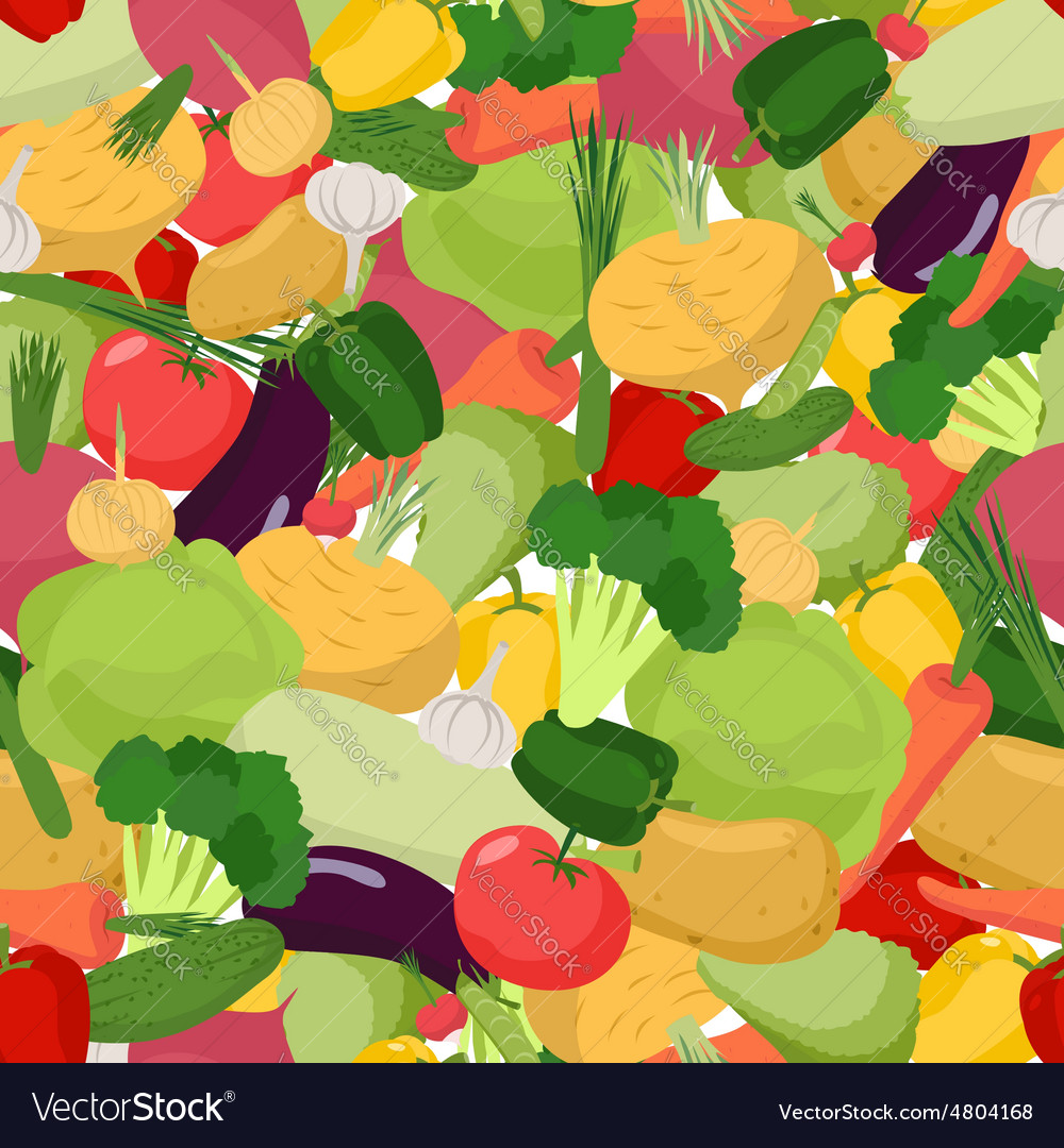 Vegetables pattern seamless vegetable organic food vector