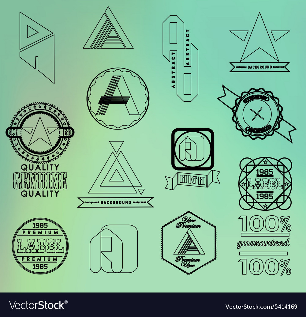 Business design elements vector
