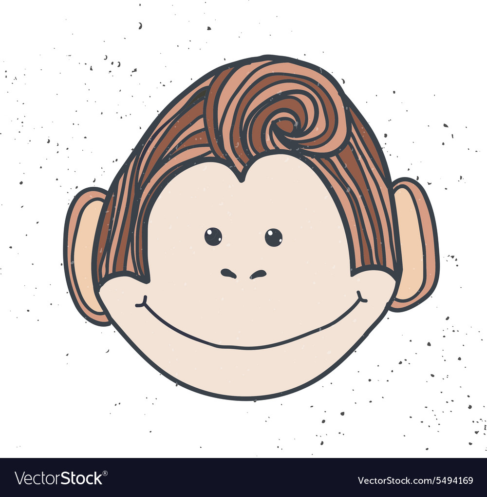 Handdrawn cartoon style monkey 2016 the chinese vector