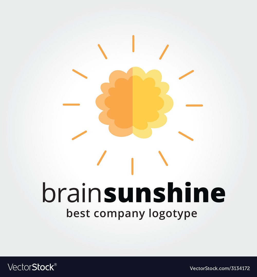 Abstract brain logotype concept isolated on white vector