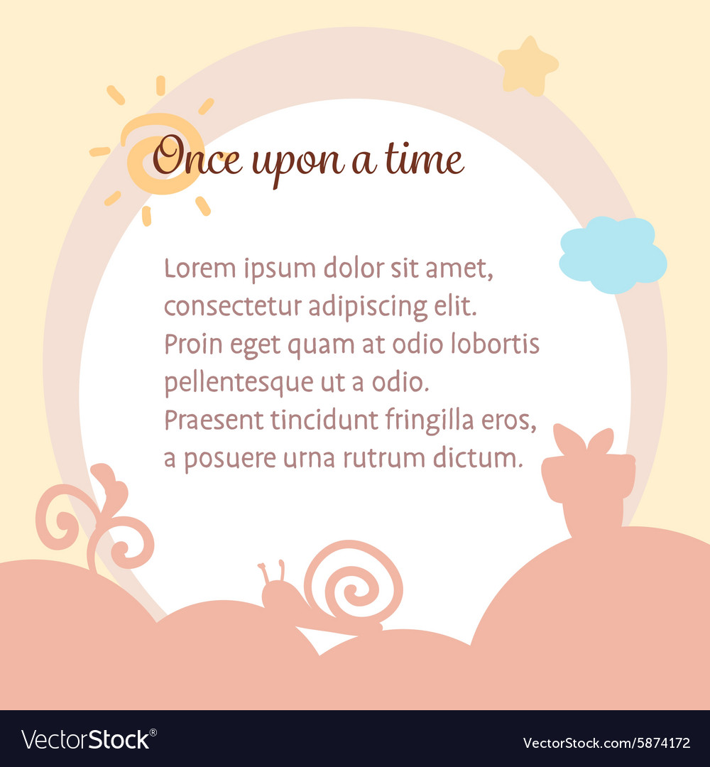 Cute pastel warm happy fairy tale background vector