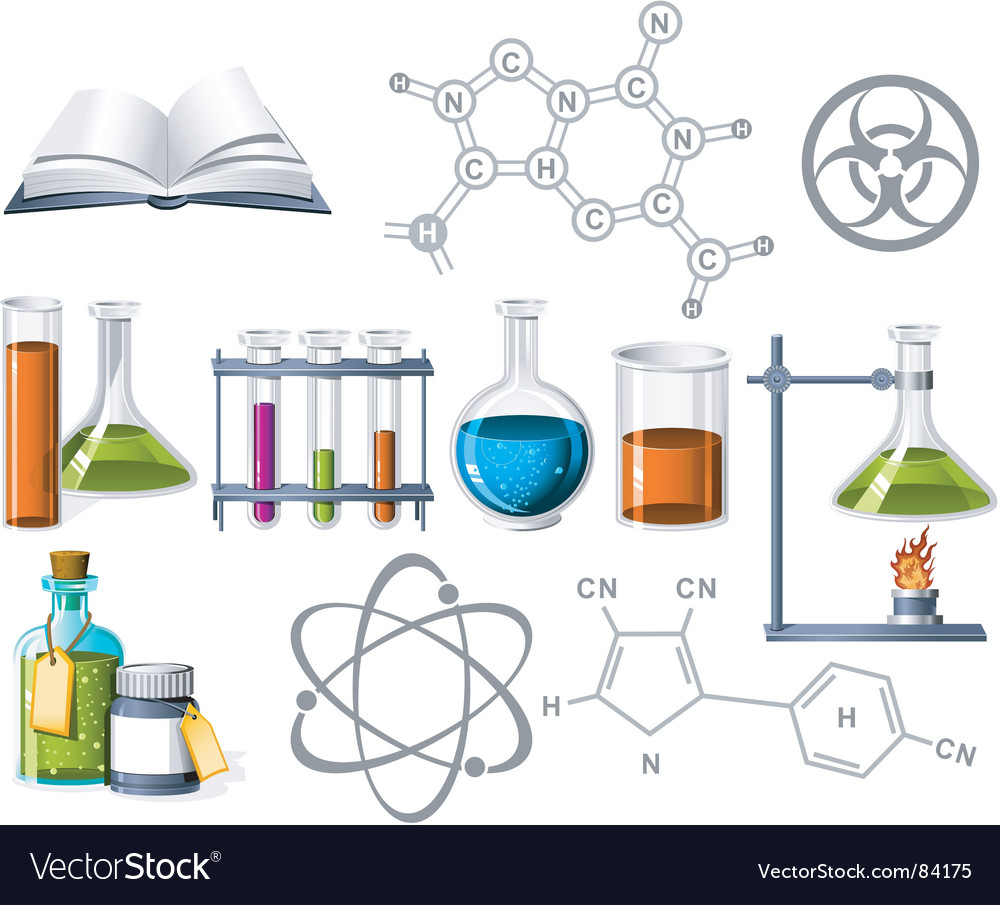Science and chemistry icons vector