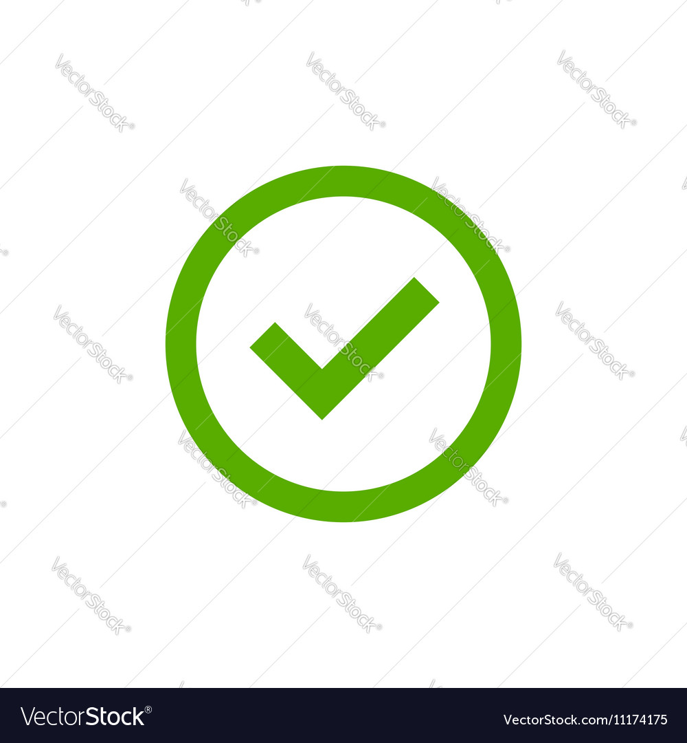 Tick sign element simple vector