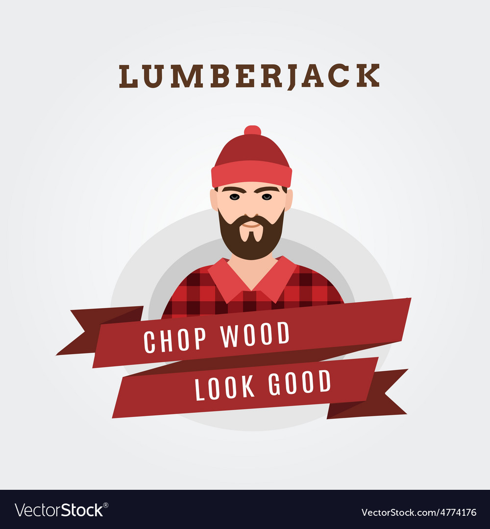 A lumberjack forester vector