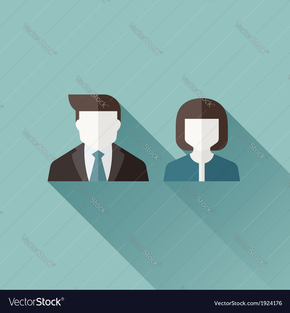 Male and female user icons vector