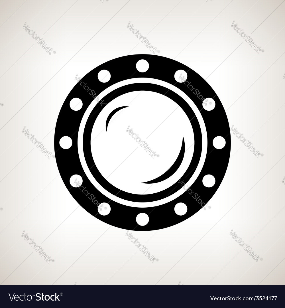 Silhouette porthole on a light background vector