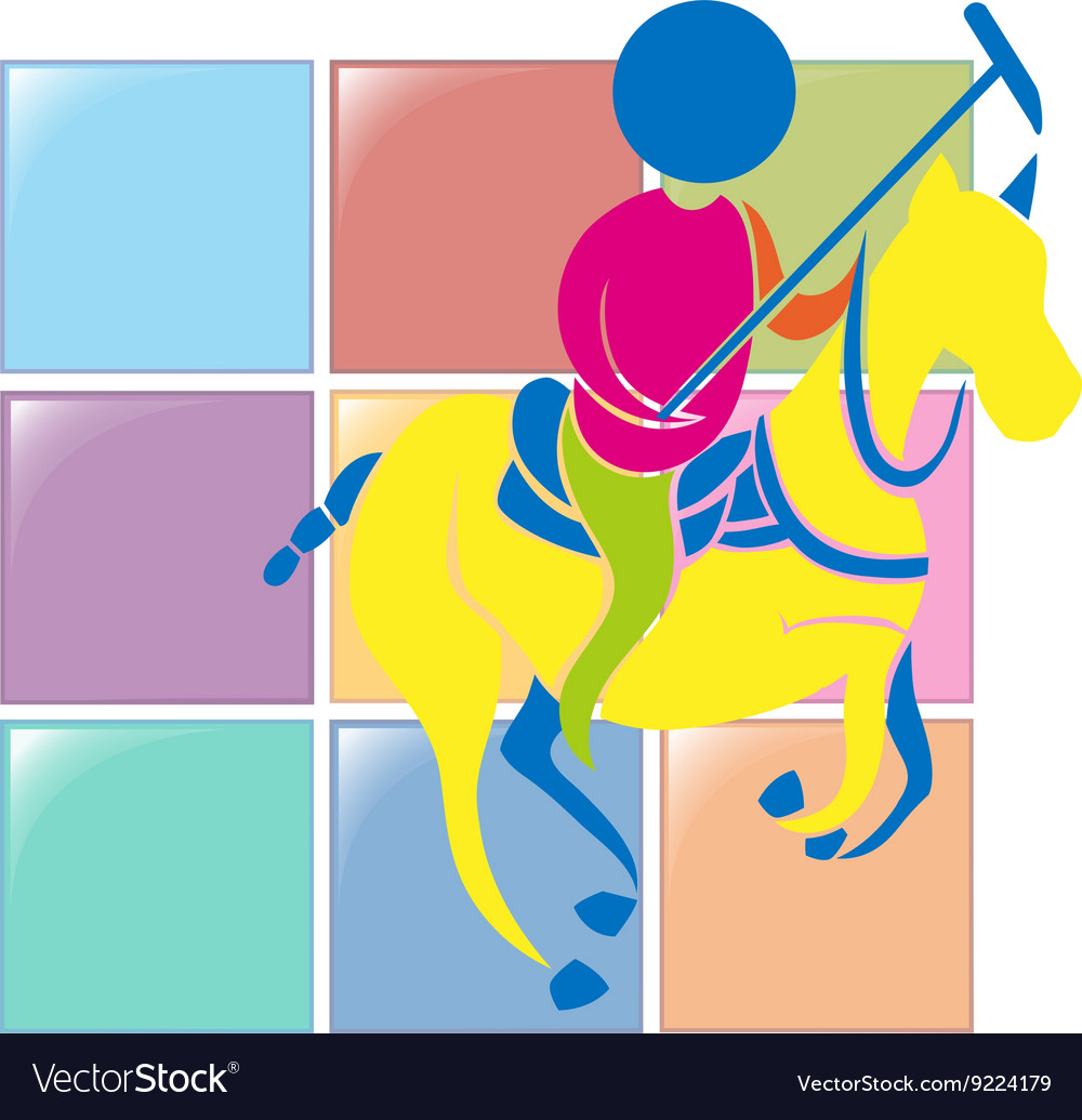 Sport icon design for equestrian vector