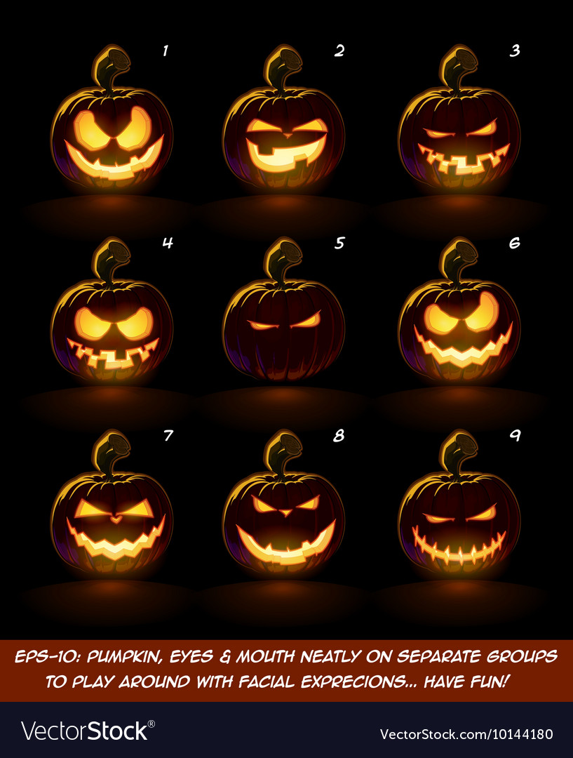 Dark jack o lantern cartoon 9 mean n naughty vector
