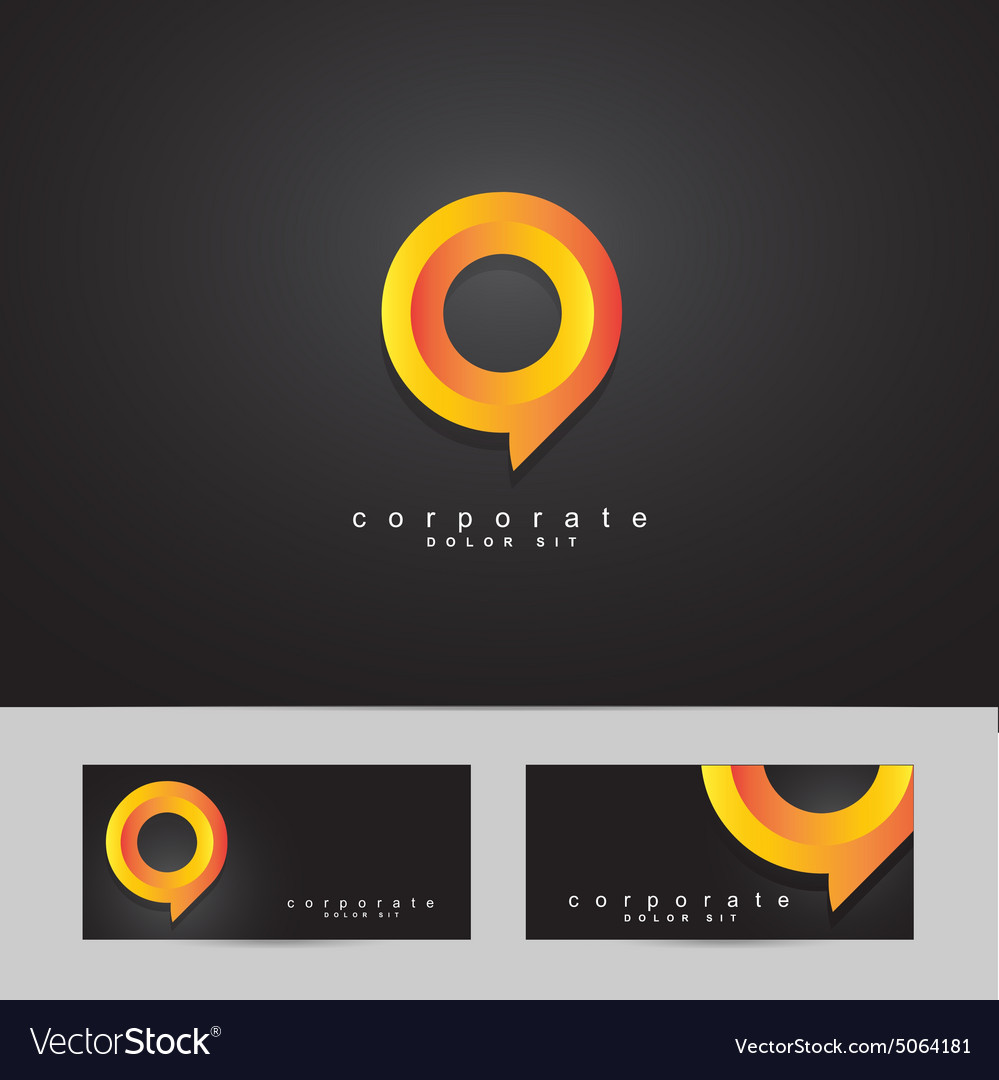 Abstract circle corporate logo vector