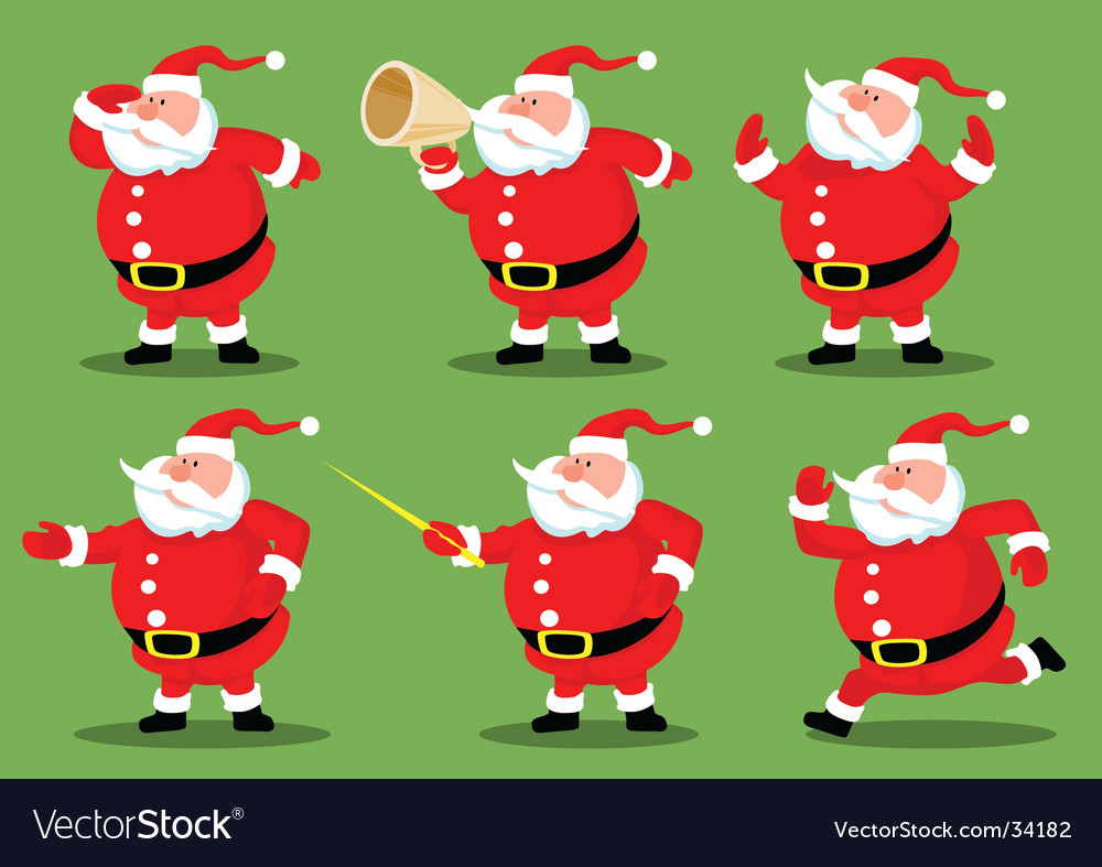 Santas collection vector