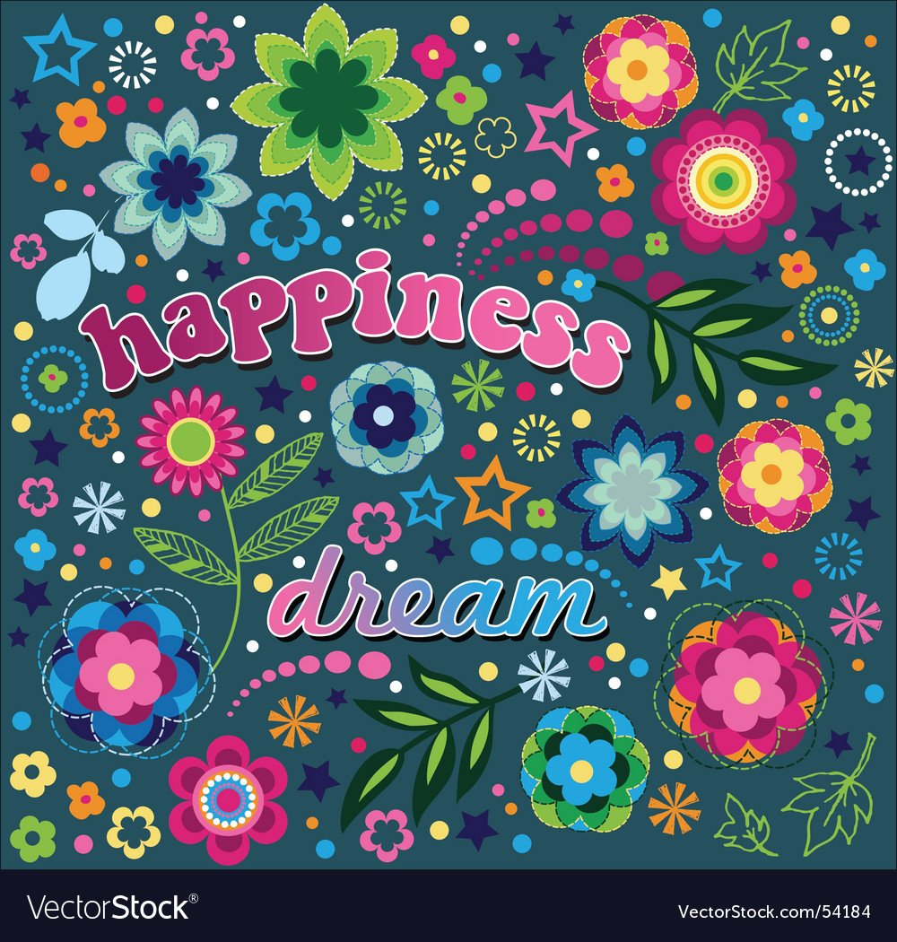 Happiness and dream vector