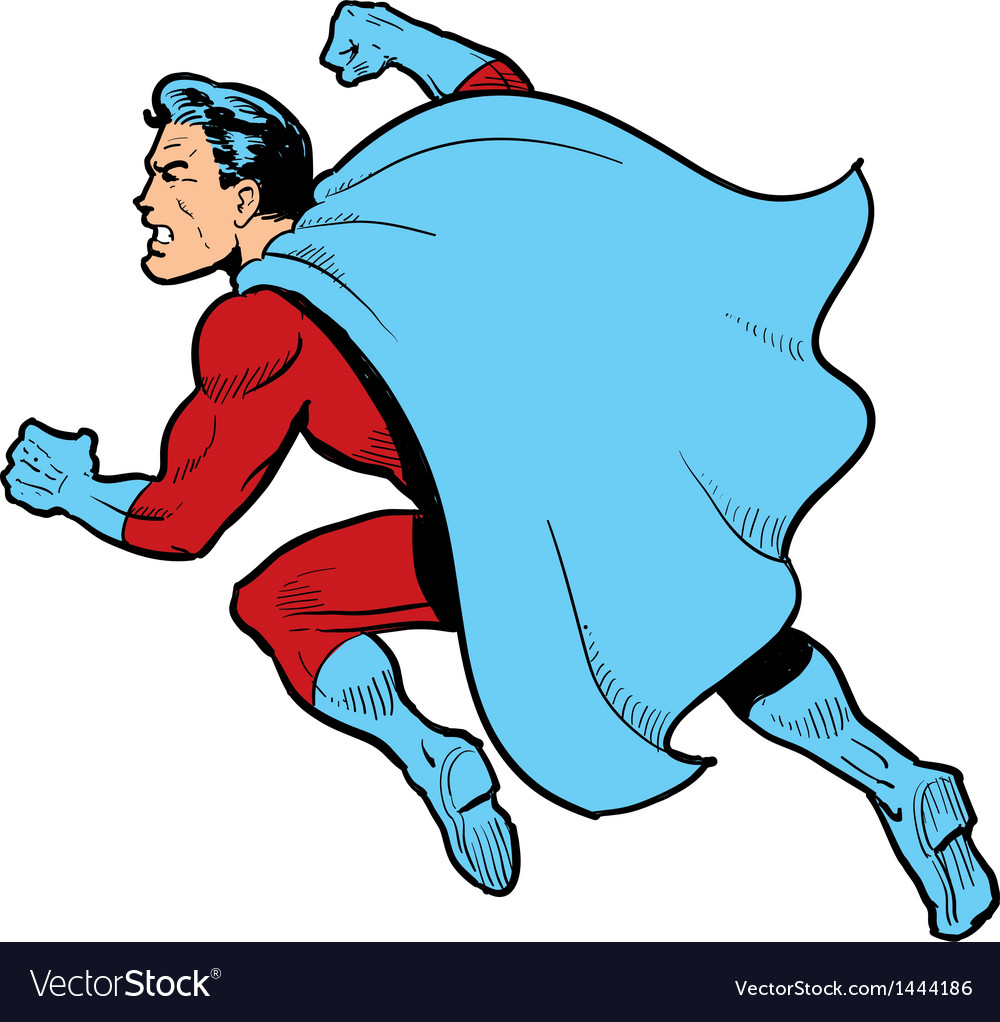 Fighting superhero vector