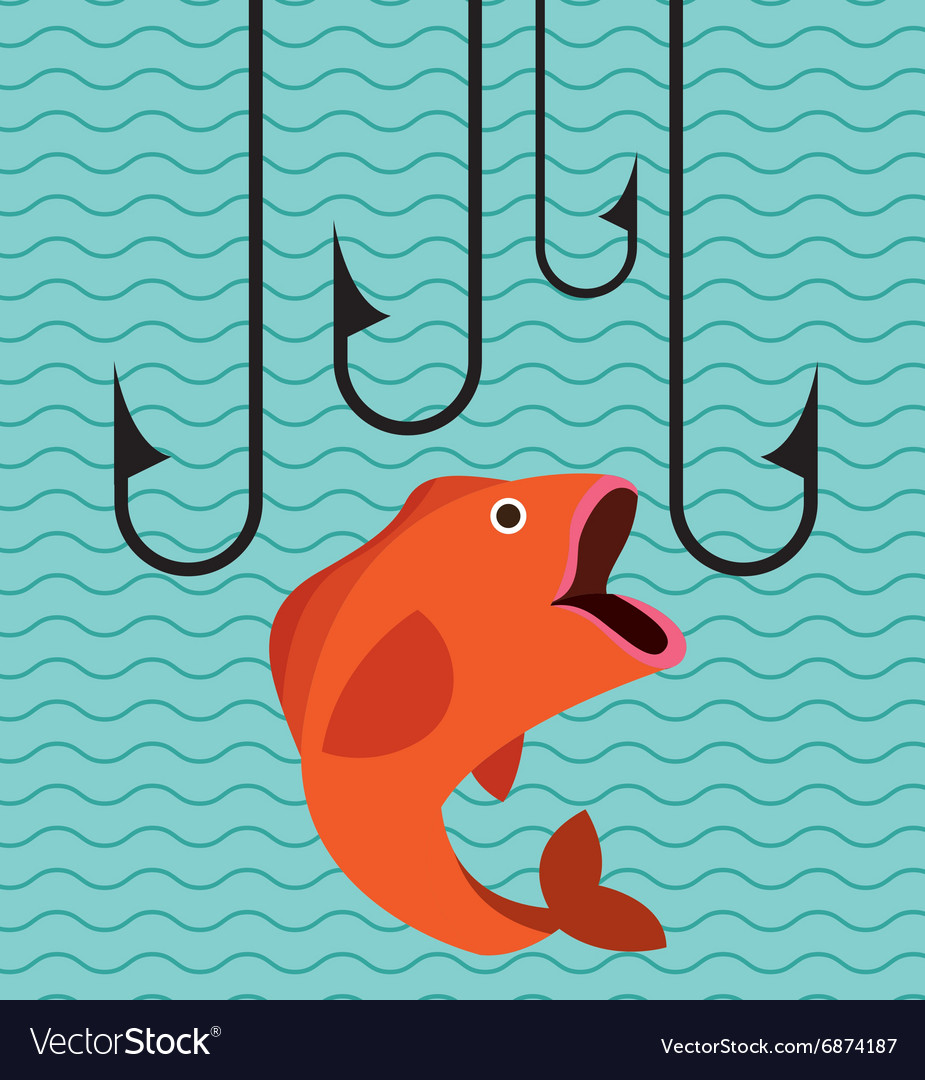 Great fishing design vector