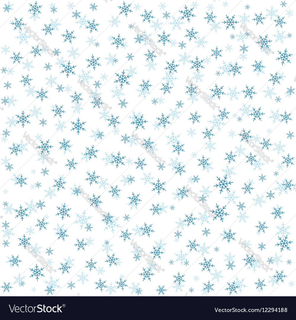 Seamless abstract pattern with snowflakes vector