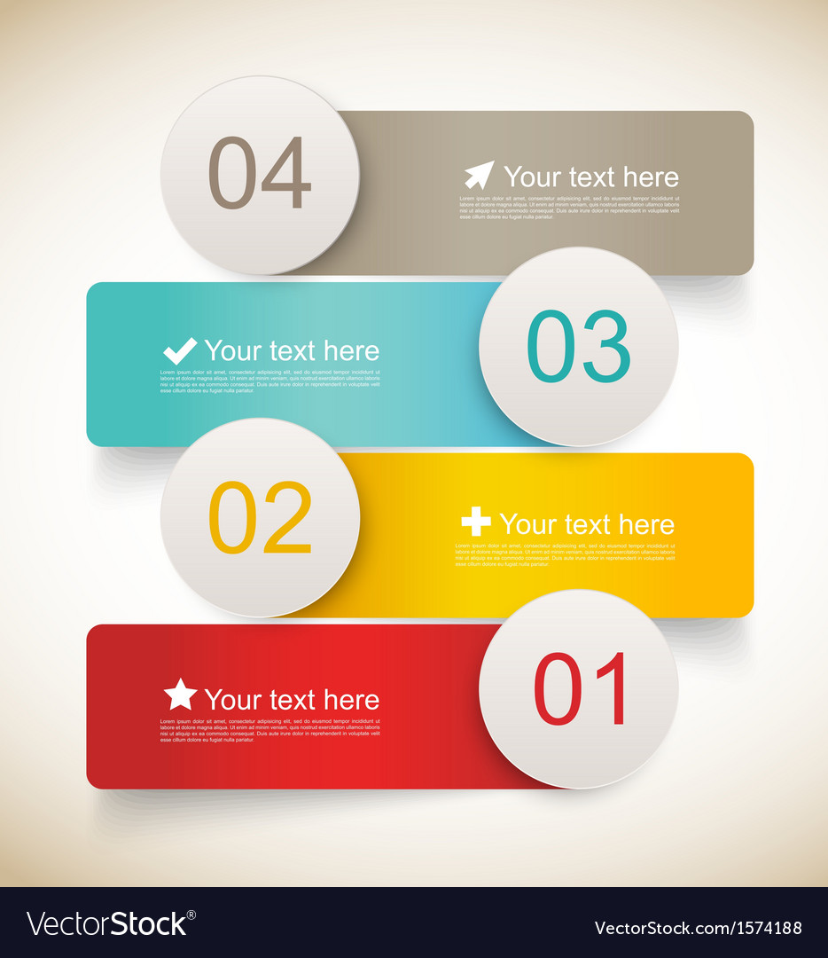 Set of infographic banners vector