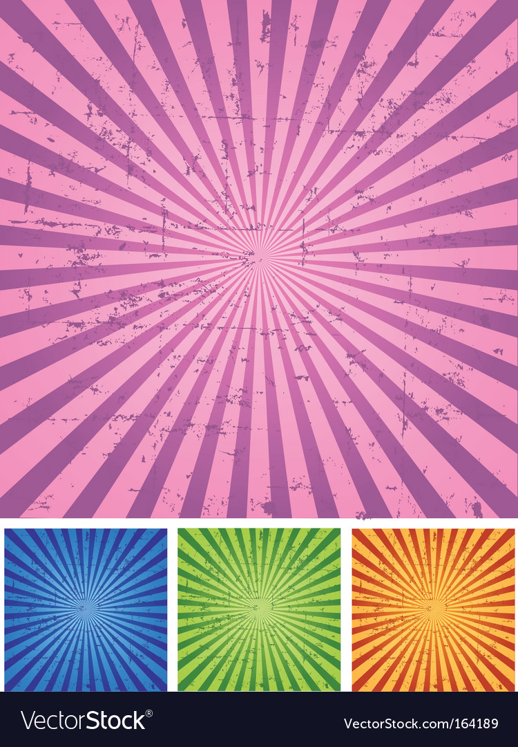 Retro radial background vector
