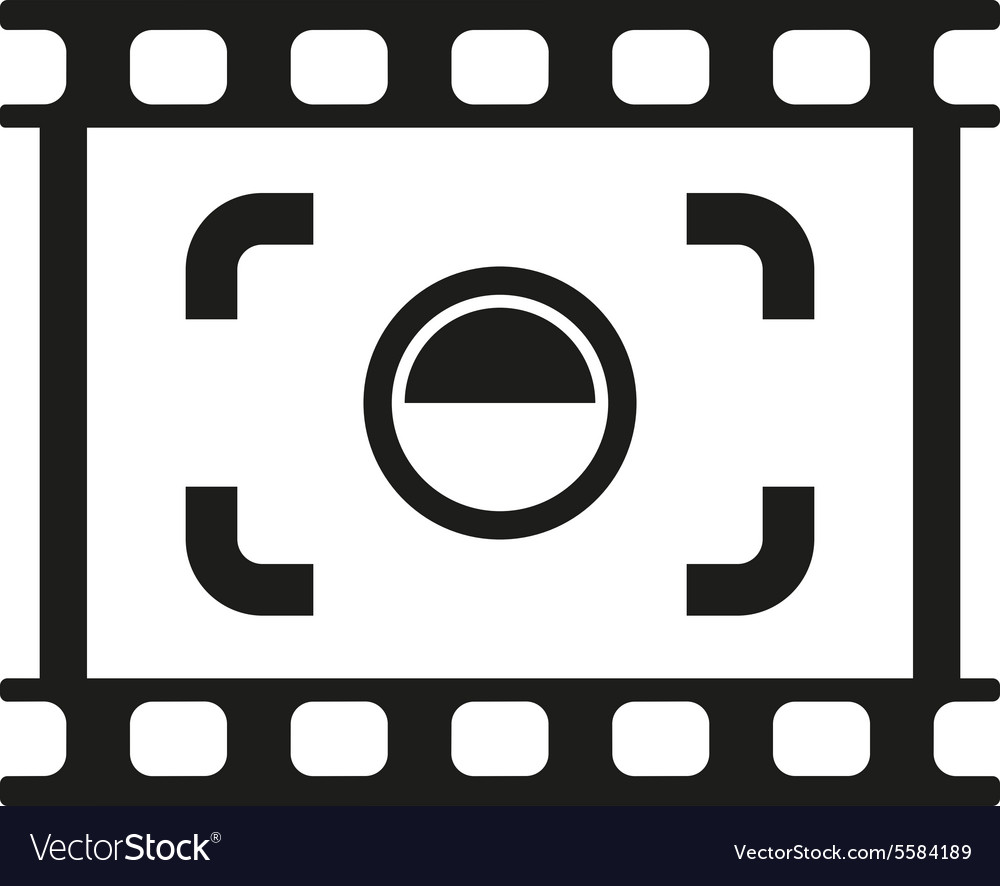 Viewfinder icon focusing and photography vector