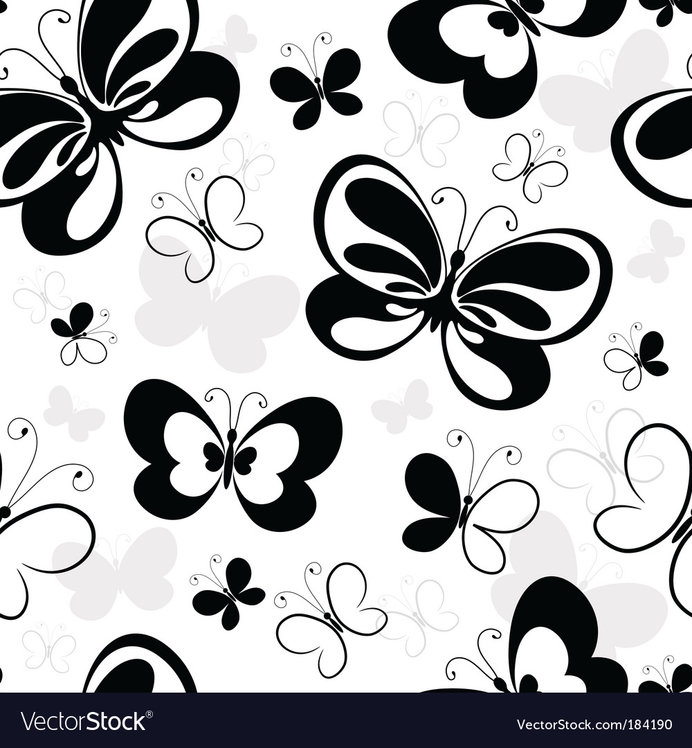 Pattern with butterflies vector