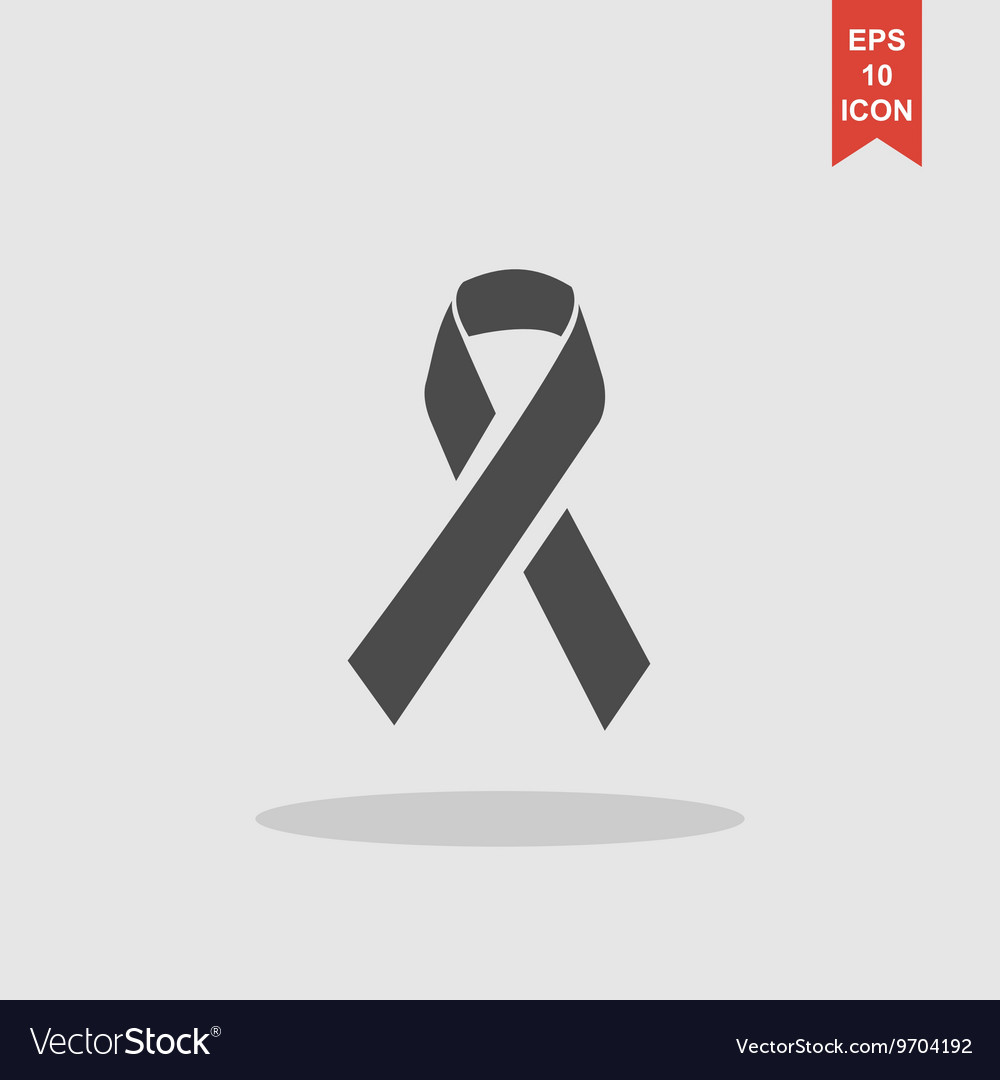 Aids awareness ribbon sign or icon vector