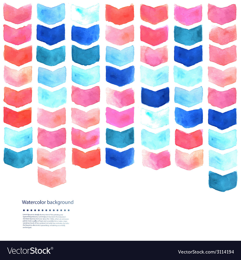 Watercolor geometric vector