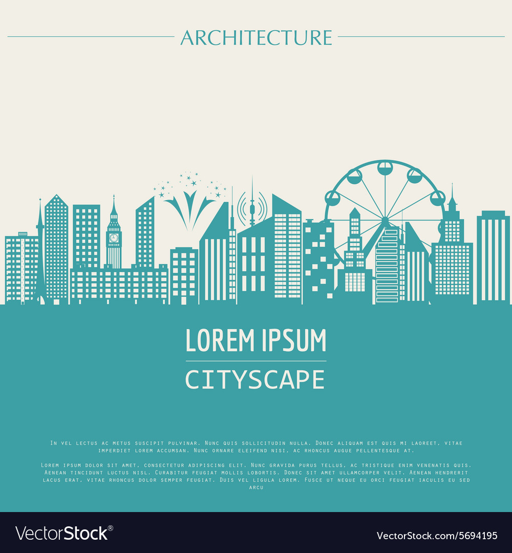 Cityscape graphic template modern city vector