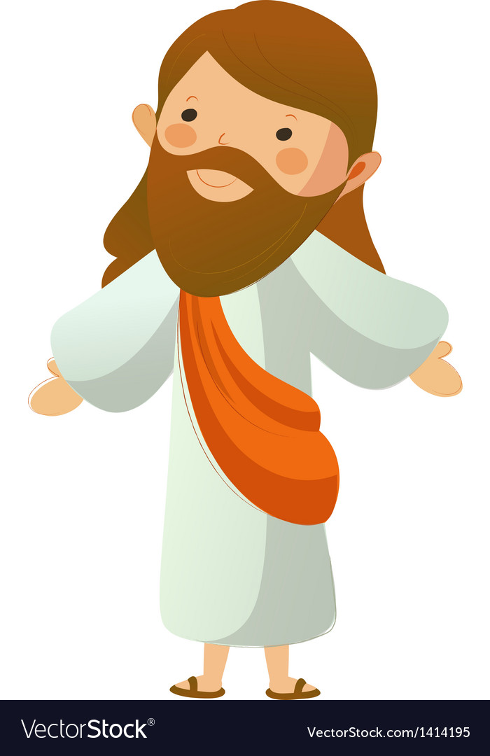 Closeup of jesus christ standing vector