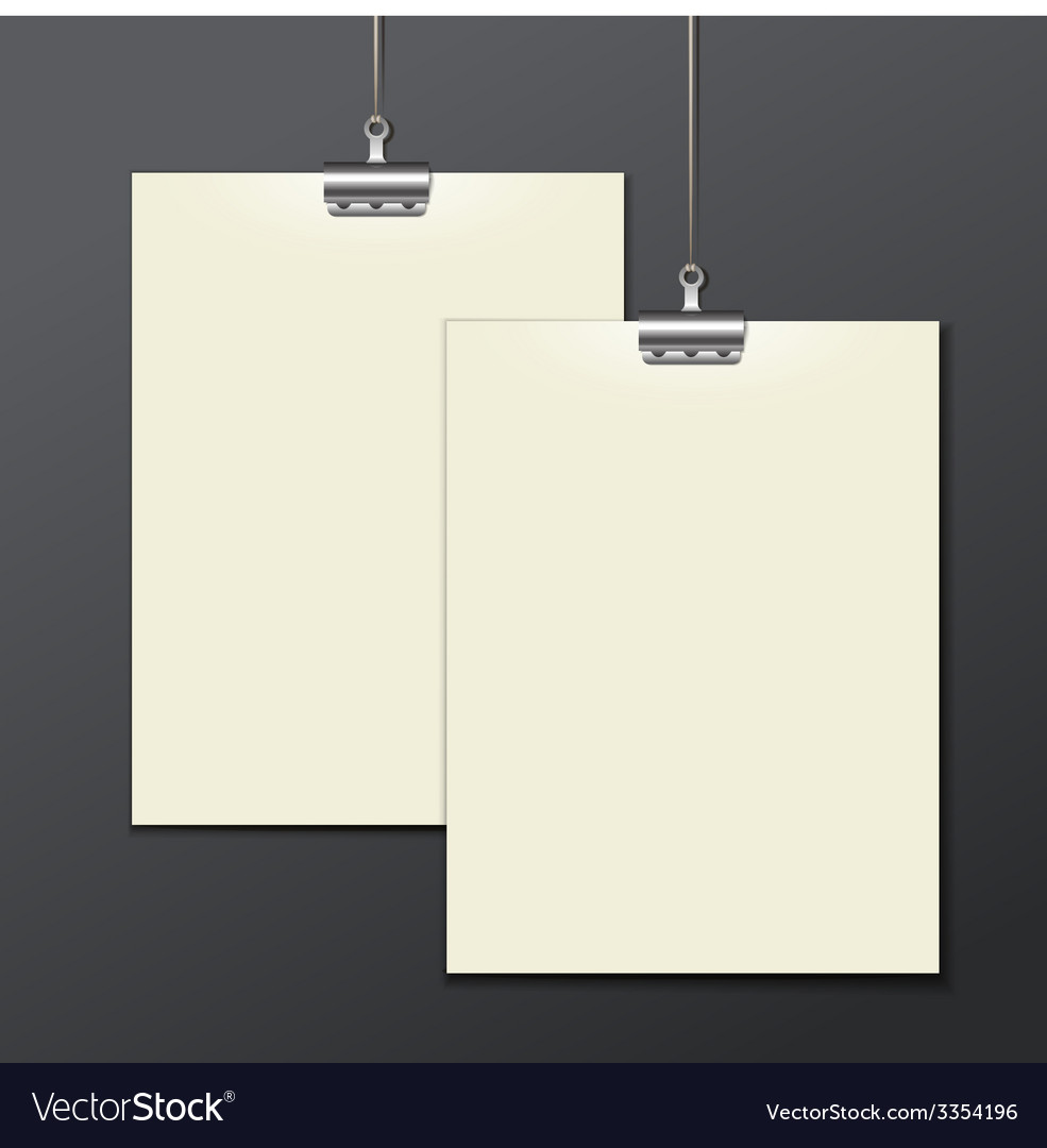 Template of a paper sheet poster picture frame vector