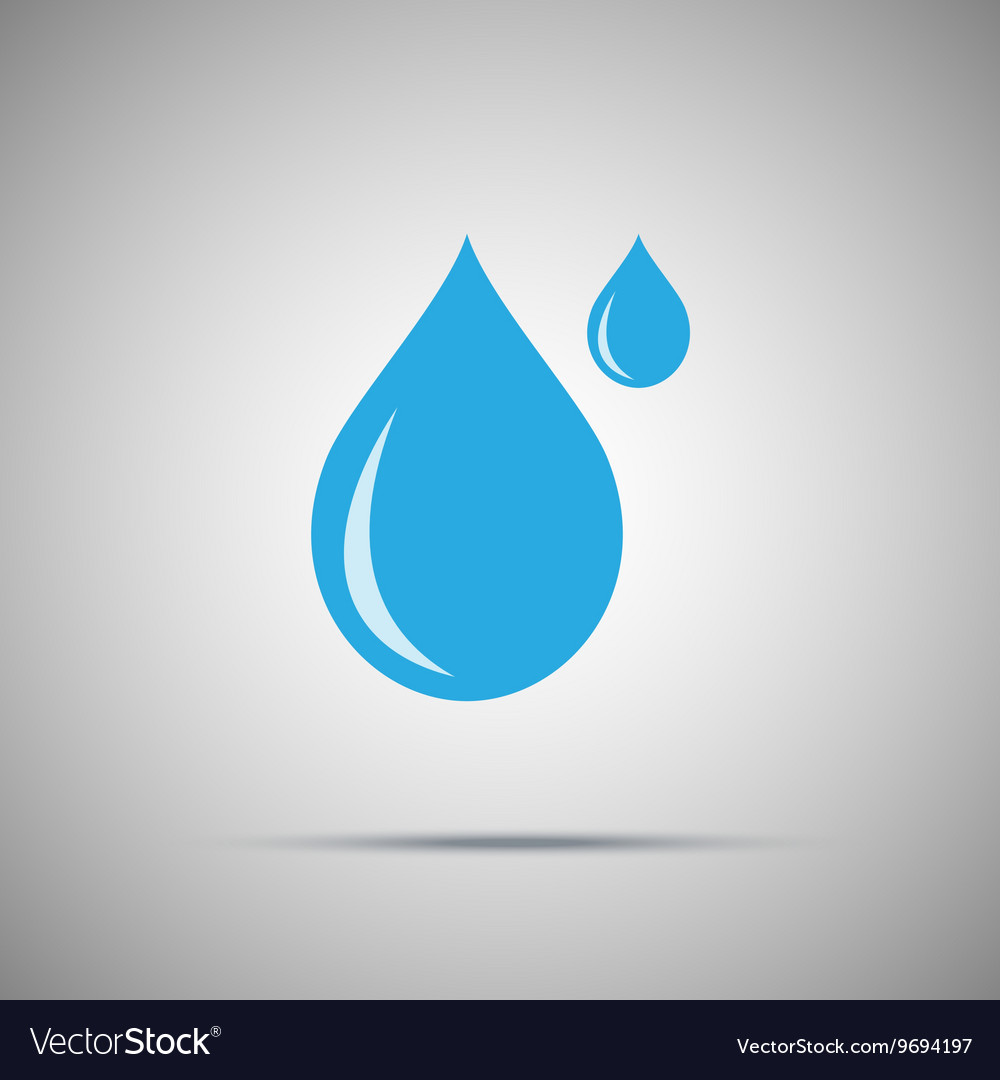 Two water drops icon vector