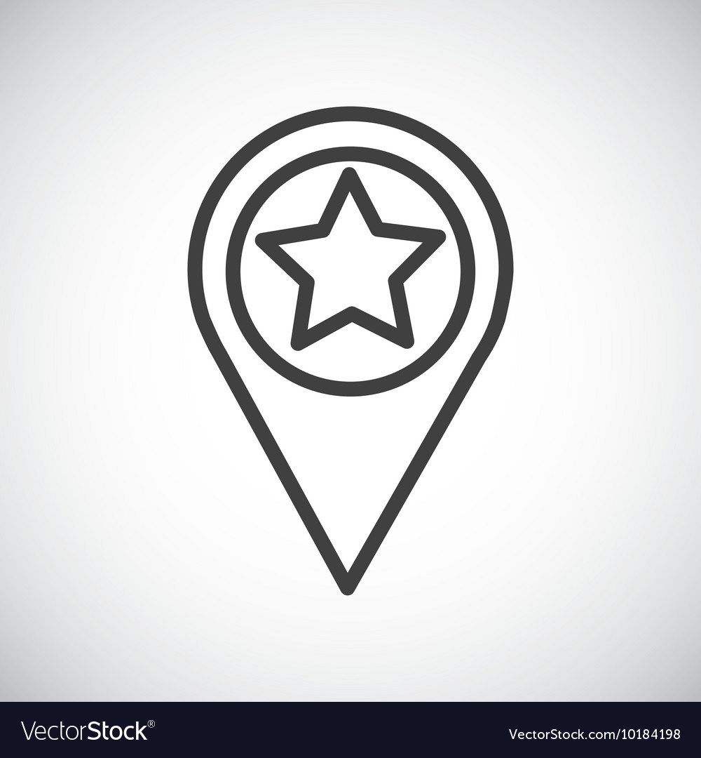 Star button silhouette icon design vector
