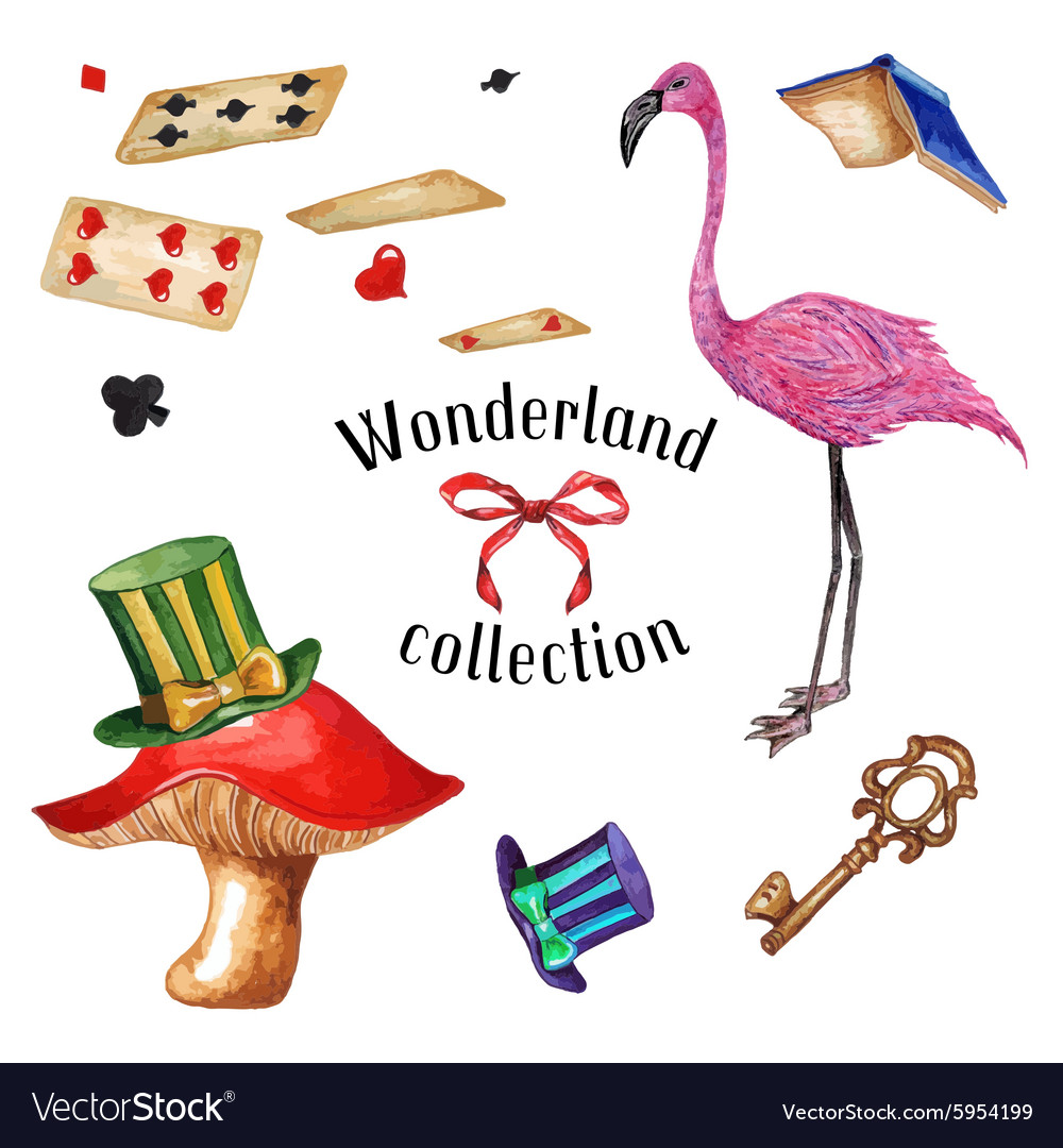 Wonderland set2 vector