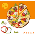 pizza food vector image