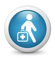 Medicglossy icon vector image vector image