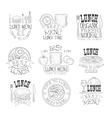 Best In Town Organic Lunch Menu Set Of Hand Drawn vector image