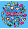 Elements For Girls Comic Style Design vector image