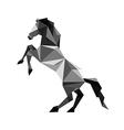 Origami black Horse vector image