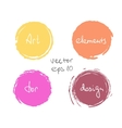 Circle paint drop set vector image
