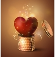 Box With Heart in retro style vector image