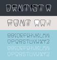 Tooth font vector image vector image