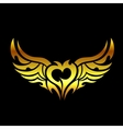 Golden devilish tattoo vector image vector image